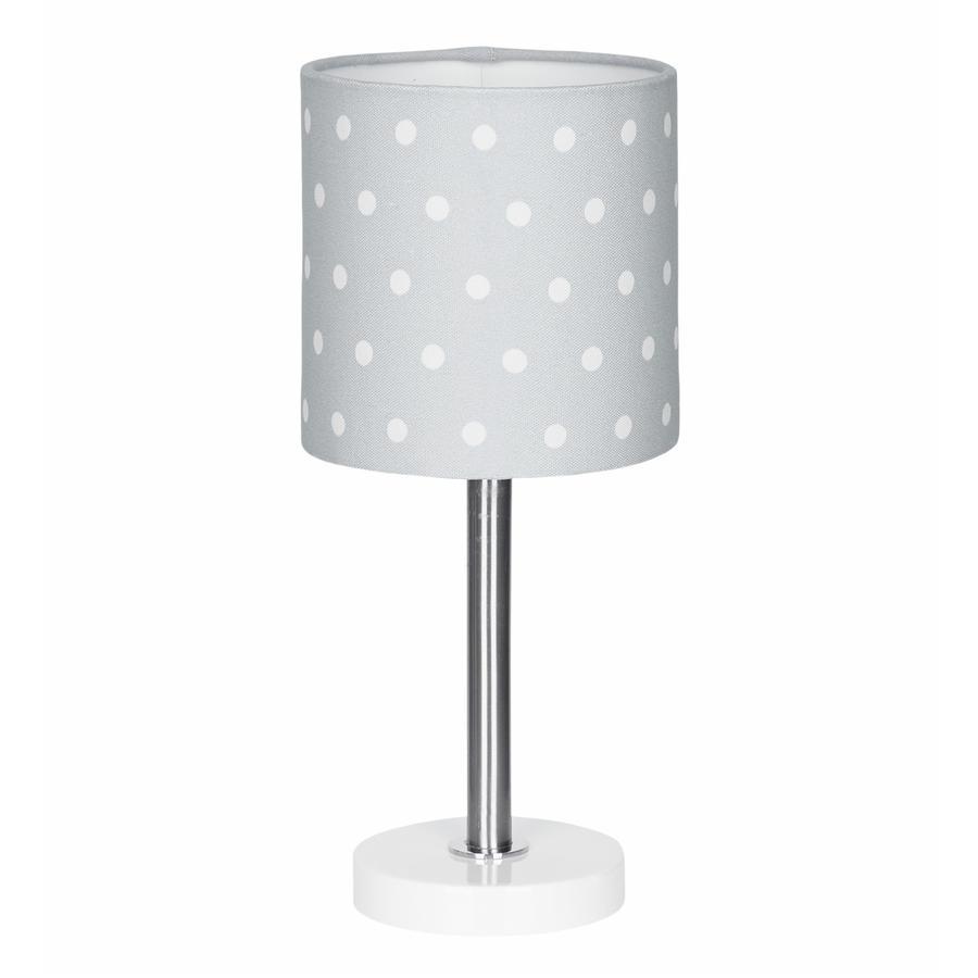 LIVONE tafellamp Happy Style voor Kids DOTS zilvergrijs/wit