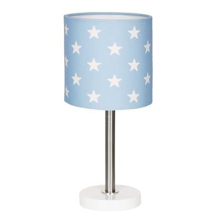 LIVONE Lampe de table enfant Happy Style for Kids STARS bleu/blanc