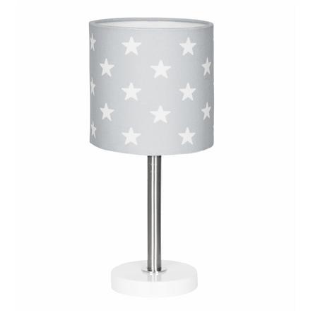 LIVONE Lampe de table enfant Happy Style for Kids STARS gris argenté/blanc