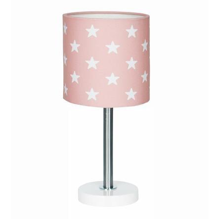 LIVONE Lampe de table enfant Happy Style for Kids STARS rose/blanc