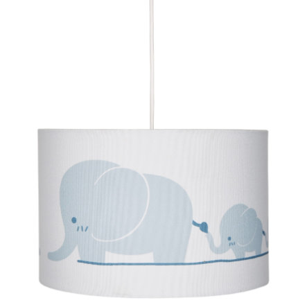 LIVONE Hängelampe Happy Style for Kids ELEPHANT FAMILY blaugrau/weiss