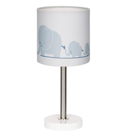 LIVONE Tischlampe Happy Style for Kids ELEPHANT FAMILY blaugrau/weiss