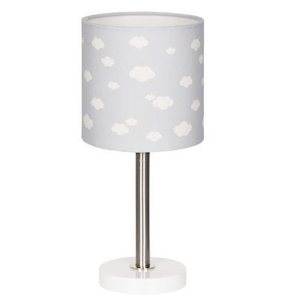 LIVONE Stolní lampa Happy Style pro děti CLOUD 7 stříbrná šedá / bílá