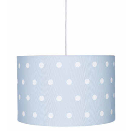 LIVONE Hängelampe Happy Style for Kids DOTS blau/weiss