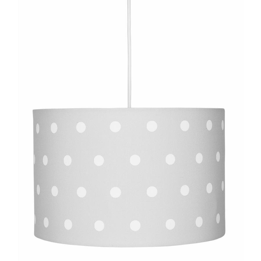 LIVONE závěsná lampa Happy Style pro děti DOTS stříbrošedá / bílá