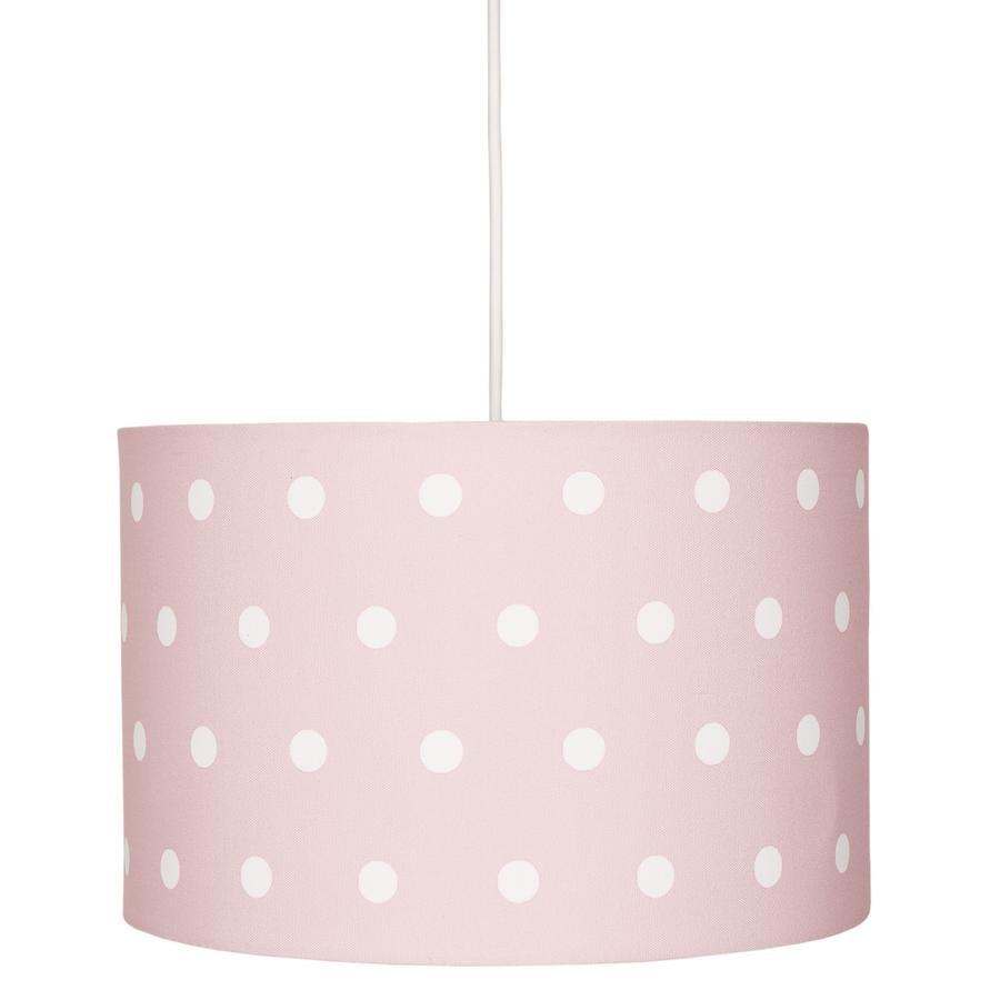 LIVONE závěsná lampa Happy Style pro děti DOTS růžová / bílá