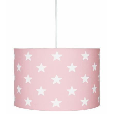 LIVONE Suspension lampe enfant Happy Style for Kids STARS rose/blanc