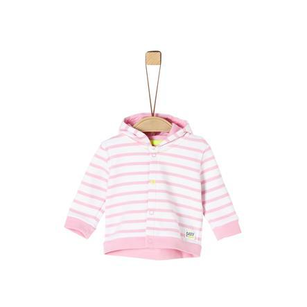 s.Oliver Sweatjacke rosa stripes