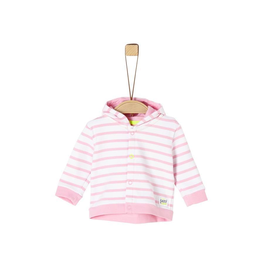s. Oliver Sweatjacket lyserøde striber