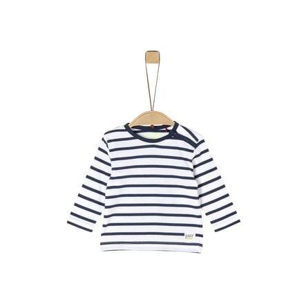 s. Oliven r Lange ermet skjorte marine striper