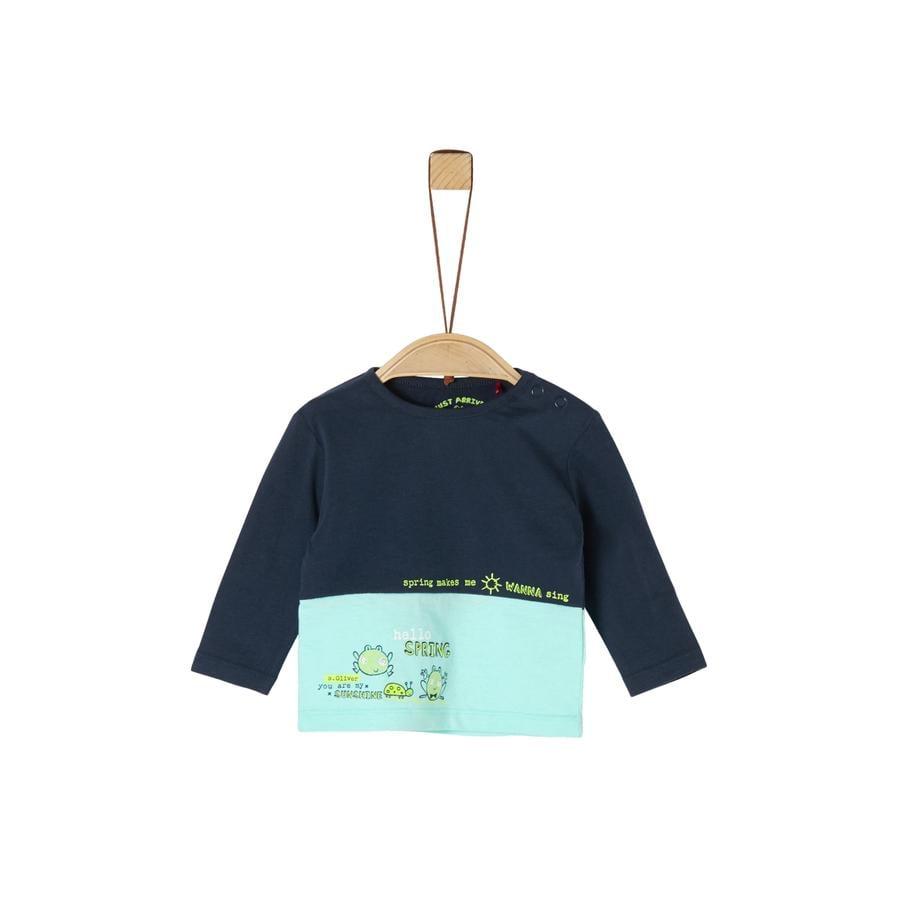 s. Olive r Chemise à manches longues bleu foncé