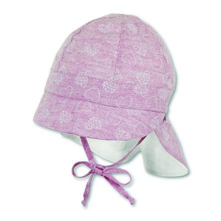 Sterntaler Girls czapka z daszkiem z osłoną szyi w kolorze jasnoczerwonym