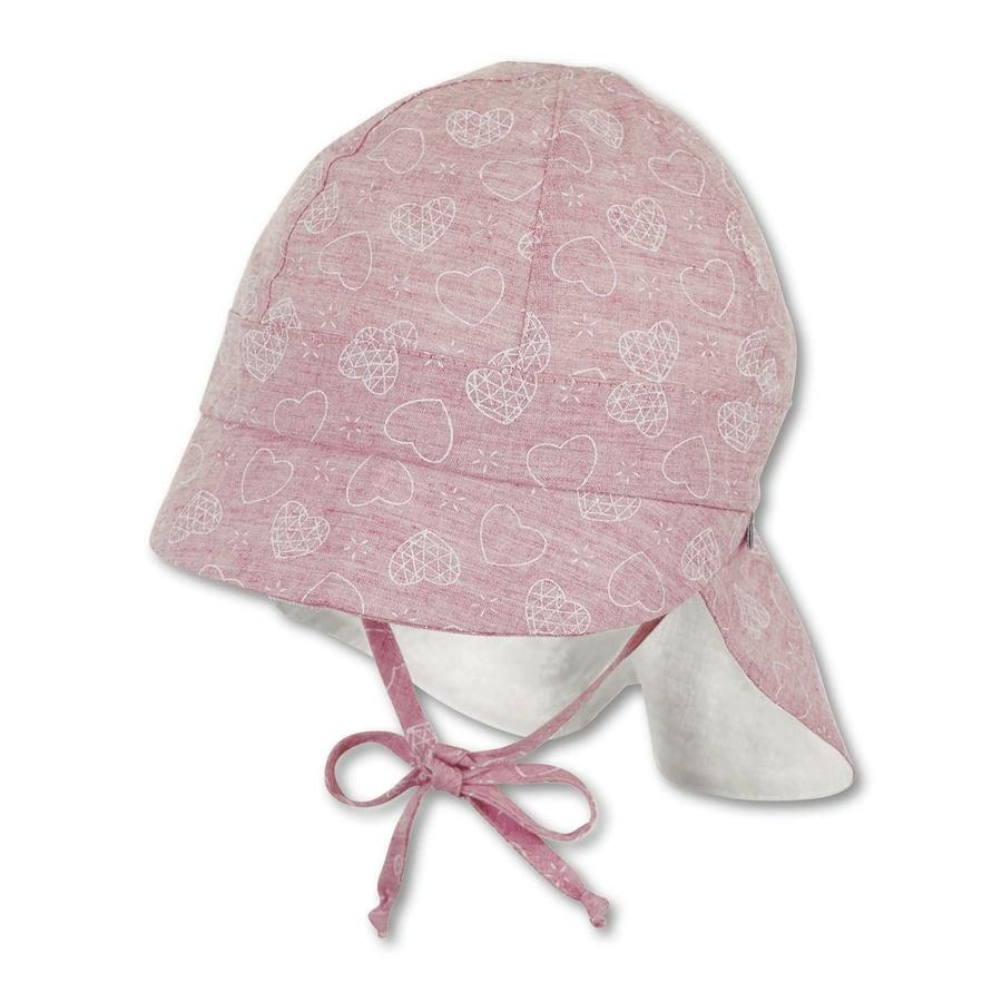 Sterntaler Girls Schirmmütze mit Nackenschutz hellrot