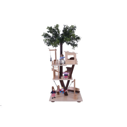EverEarth® Figurine cabane dans l'arbre bois