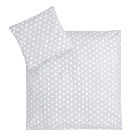 JULIUS ZÖLLNER Jersey sängkläder pingvin / stars grå 80 x 80 cm