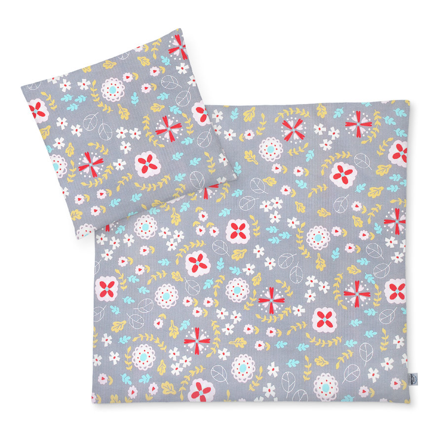 JULIUS ZÖLLNER Jersey sengetøy eng blomster 80 x 80 cm