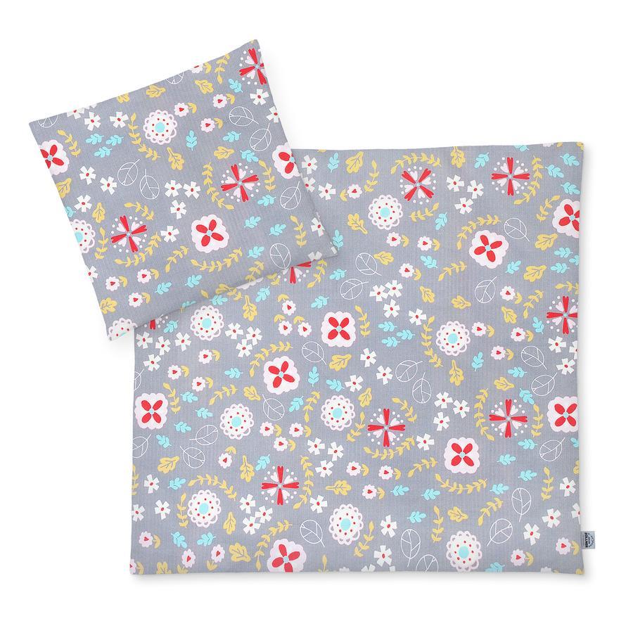 JULIUS ZÖLLNER Tröja sängkläder äng blommor 80 x 80 cm
