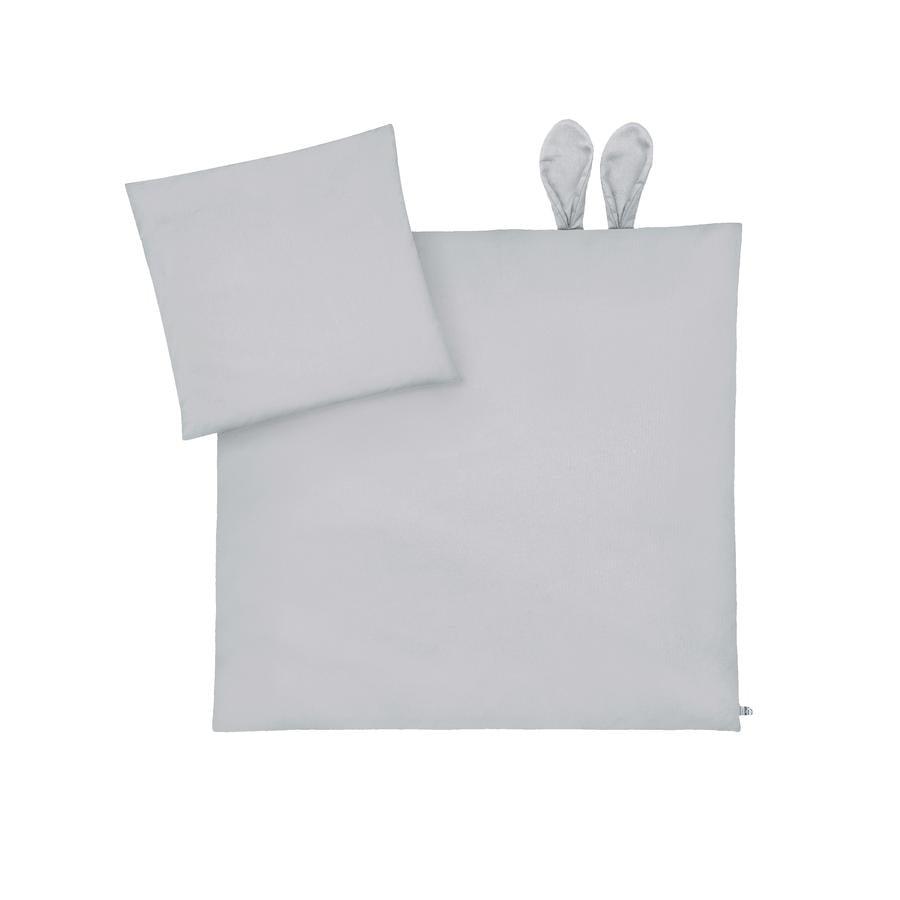 JULIUS ZÖLLNER sängkläder med öron Piqué Grå 80 x 80 cm