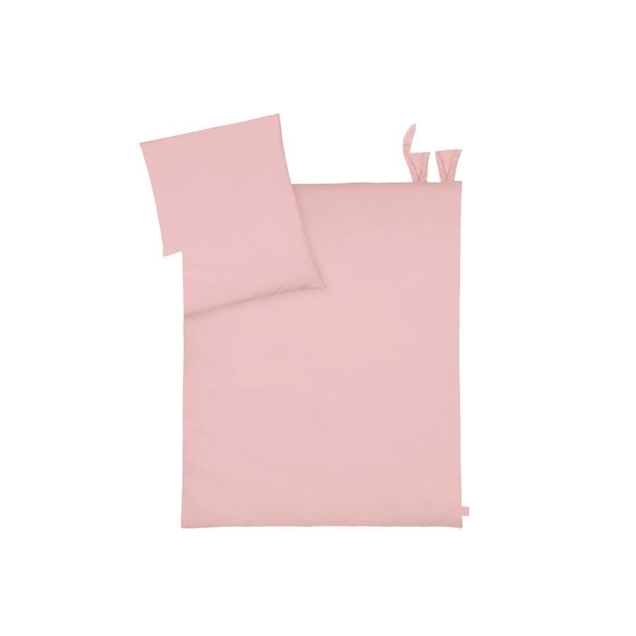JULIUS ZÖLLNER sängkläder med öron Piqué Blush 80 x 80 cm