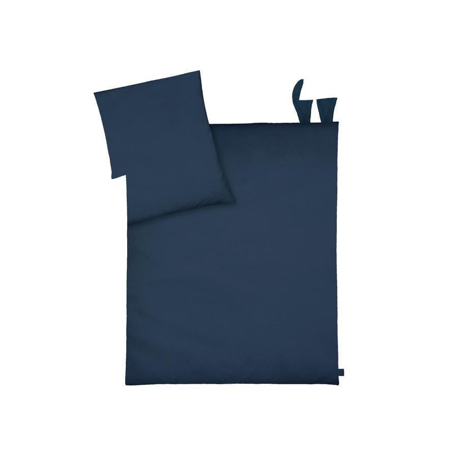 Povlečení JULIUS ZÖLLNER s ušima Piqué Night Blue 80 x 80 cm