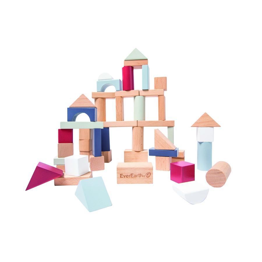 EverEarth® Blocs de construction enfant Lifetyle bois 50 pièces EE33893