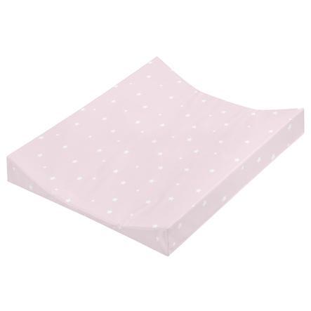 Cambiador de JULIO ZÖLLNER Bandeja de 2 bordes de papel de aluminio Rosa estrellada 50 x 65 cm