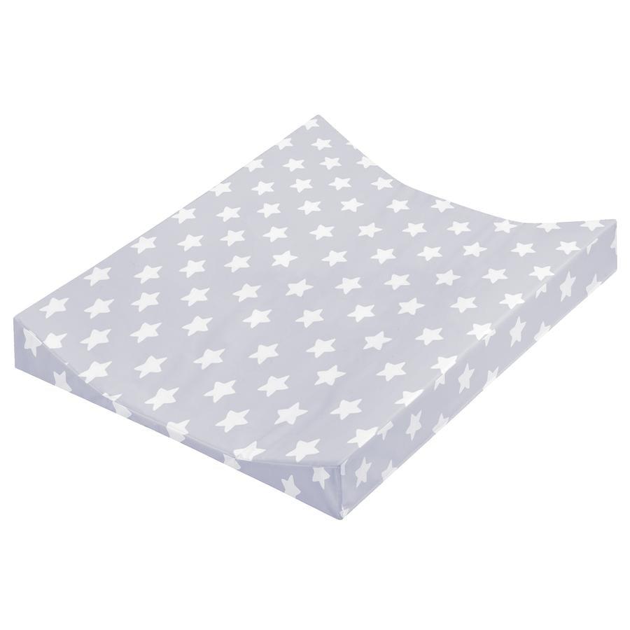 JULIUS ZÖLLNER skiftemåtte 2-kile form stjerner grå 50 x 65 cm