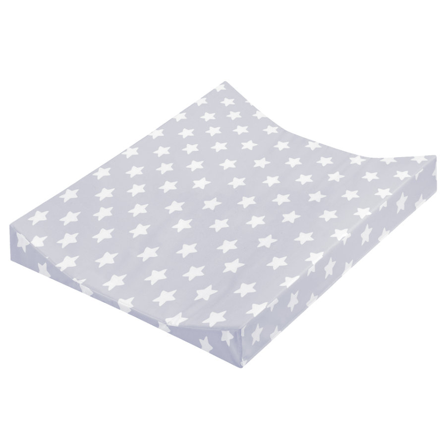 JULIUS ZÖLLNER Wickelauflage 2-Keil Mulde Folie Sterne grau 50 x 65 cm