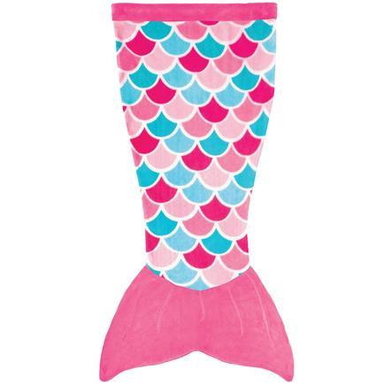 XTREM Leksaker och sport - FIN FUN Cuddle Tails sjöjungfrufilt, Pink Dream
