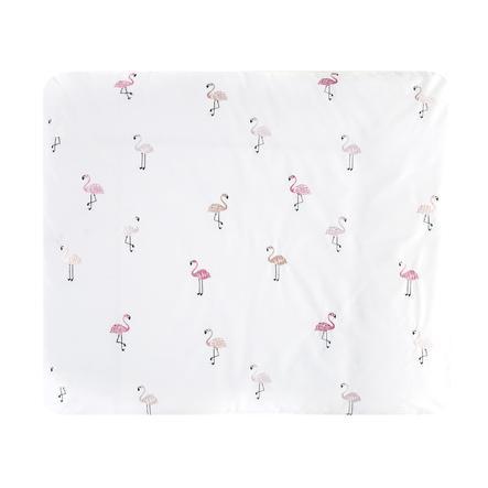 Alvi Omklädningsmatta med lock, Flamingo 85 x 70 cm