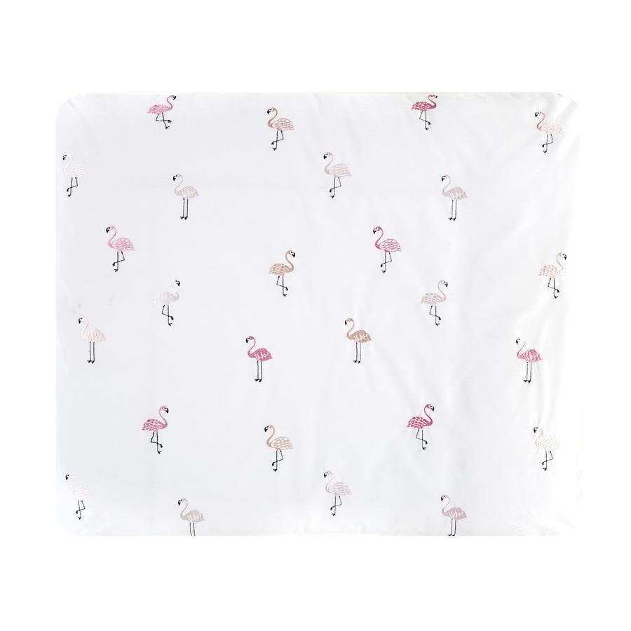Alvi® Aankleedkussen met hoes Flamingo 85 x 70 cm