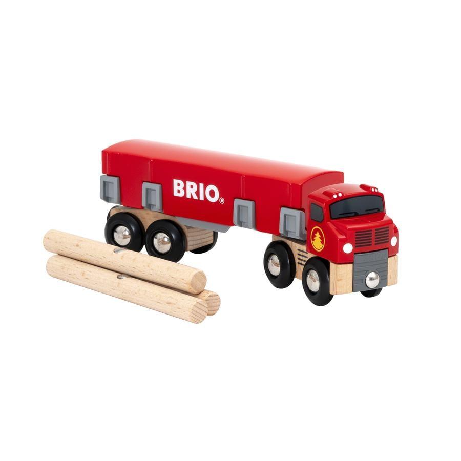 BRIO® WORLD Holztransporter mit Magnetladung 33657
