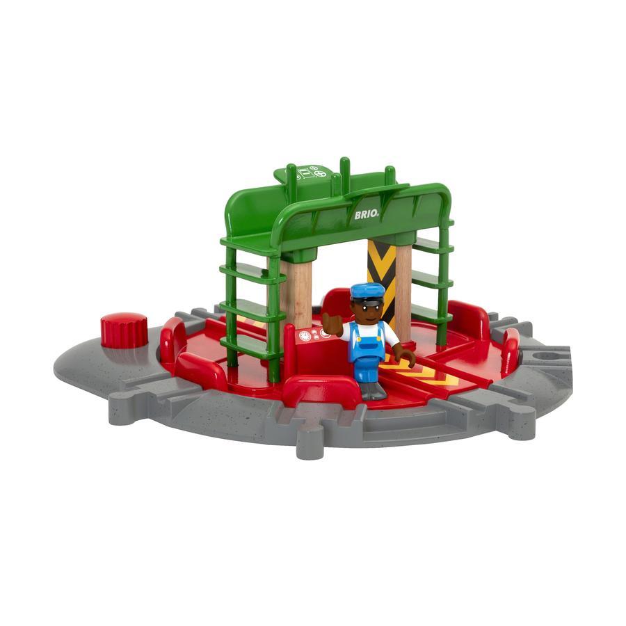 BRIO® WORLD Lok-Drehscheibe mit Kontrollbrücke