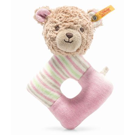 Steiff Greifring mit Rassel Teddybär Rosy GOTS 15 cm