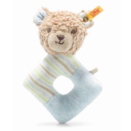 Steiff Greifring mit Rassel Teddybär Rudy GOTS 15 cm