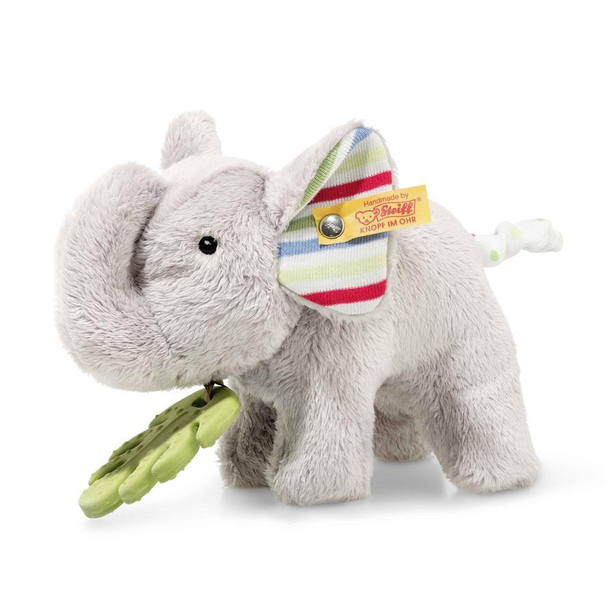 Steiff gripe ring med raslende elefant Timmi 17 cm