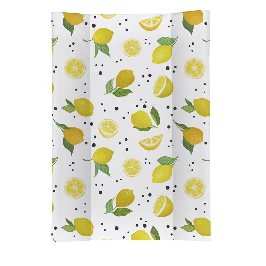 Rotho Babydesign Keilwickelauflage Lemon Chill weiß 50 x 70 cm