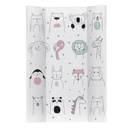 Rotho Baby design Klínová přebalovací rohož Happy Faces bílá 50 x 70 cm