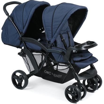 CHIC 4 BABY Geschwisterwagen DOPPIO Jeans navy blue