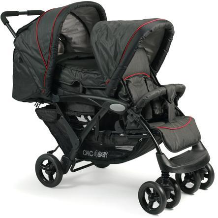 CHIC 4 BABY Geschwisterwagen DUO Jeans black