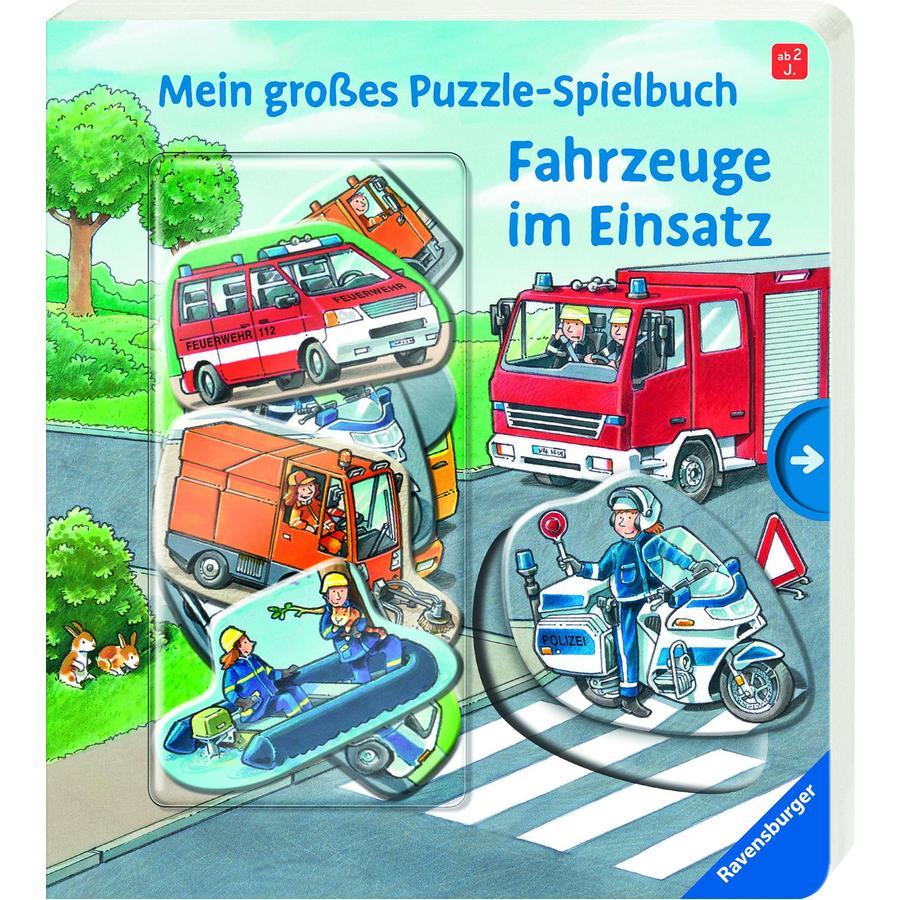Ravensburger Mein großes Puzzle-Spielbuch: Fahrzeuge im Einsatz