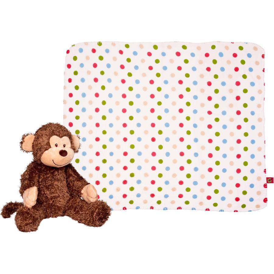 COPPENRATH Set de regalo mono de felpa y manta - BabyGlück