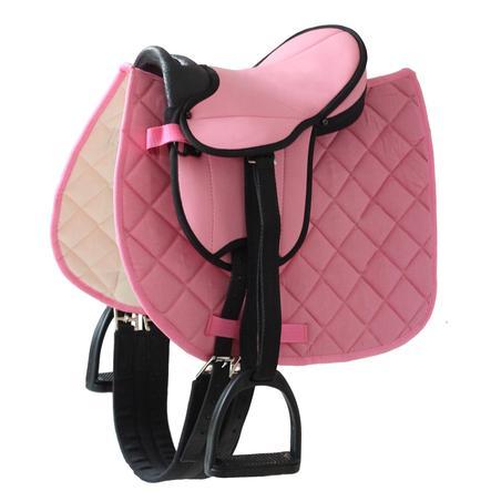 Helga Kreft Sadelset för lekhästar rosa