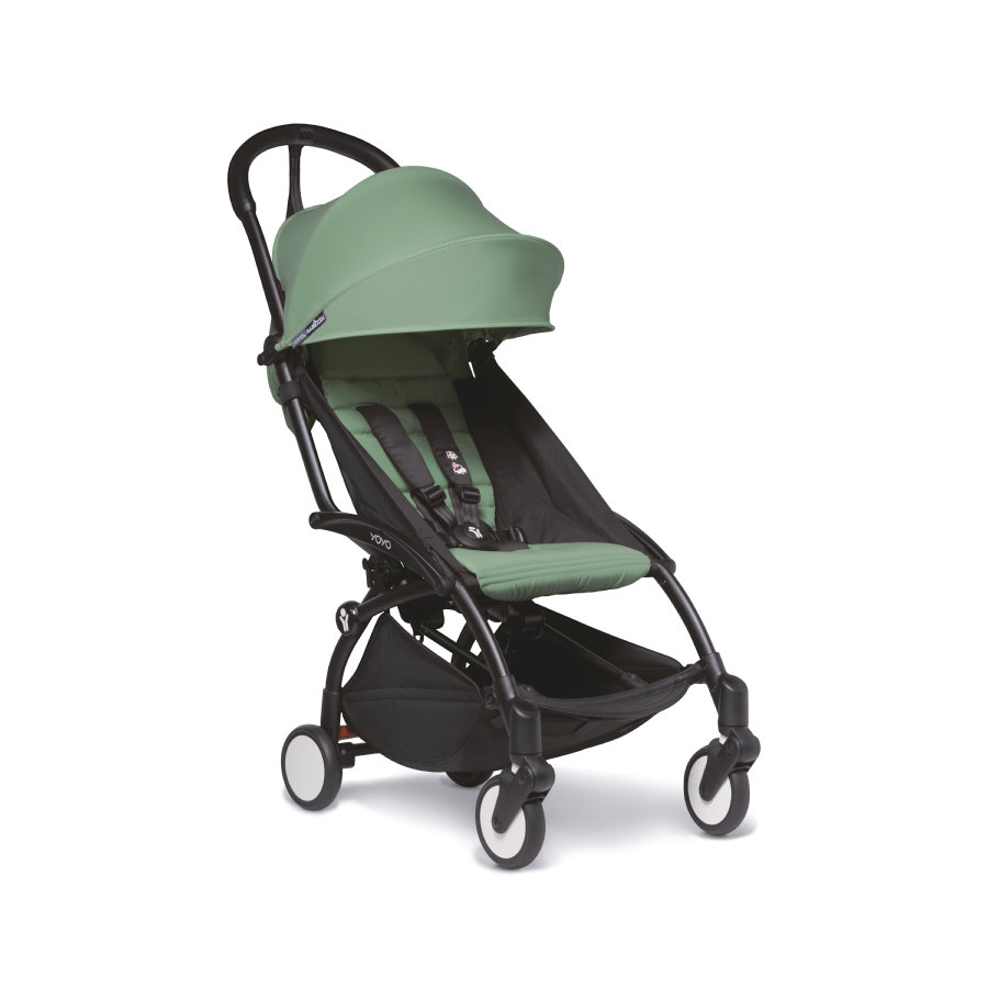 BABYZEN Kinderwagen YOYO2 6+ Zwart/Pepermunt