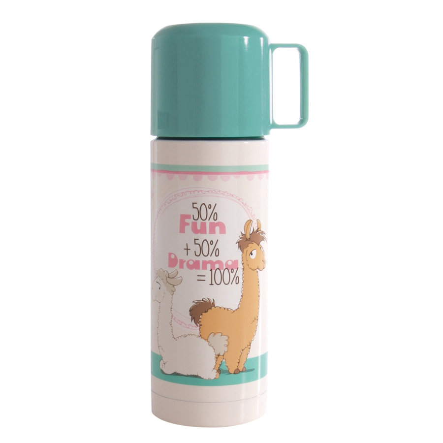 NICI Thermos bottle Lady & Luis Lama, 350 ml