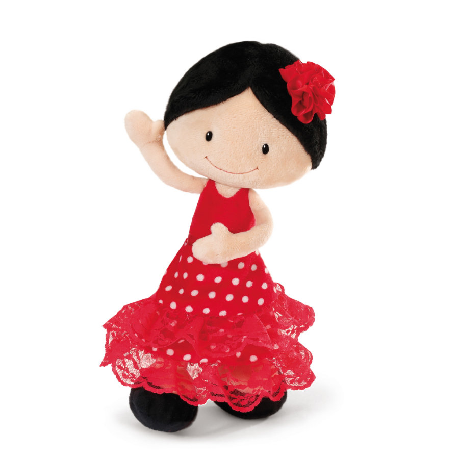 NICI Flamenco Puppe Minicarmen Schlenker Plüsch, 30 cm