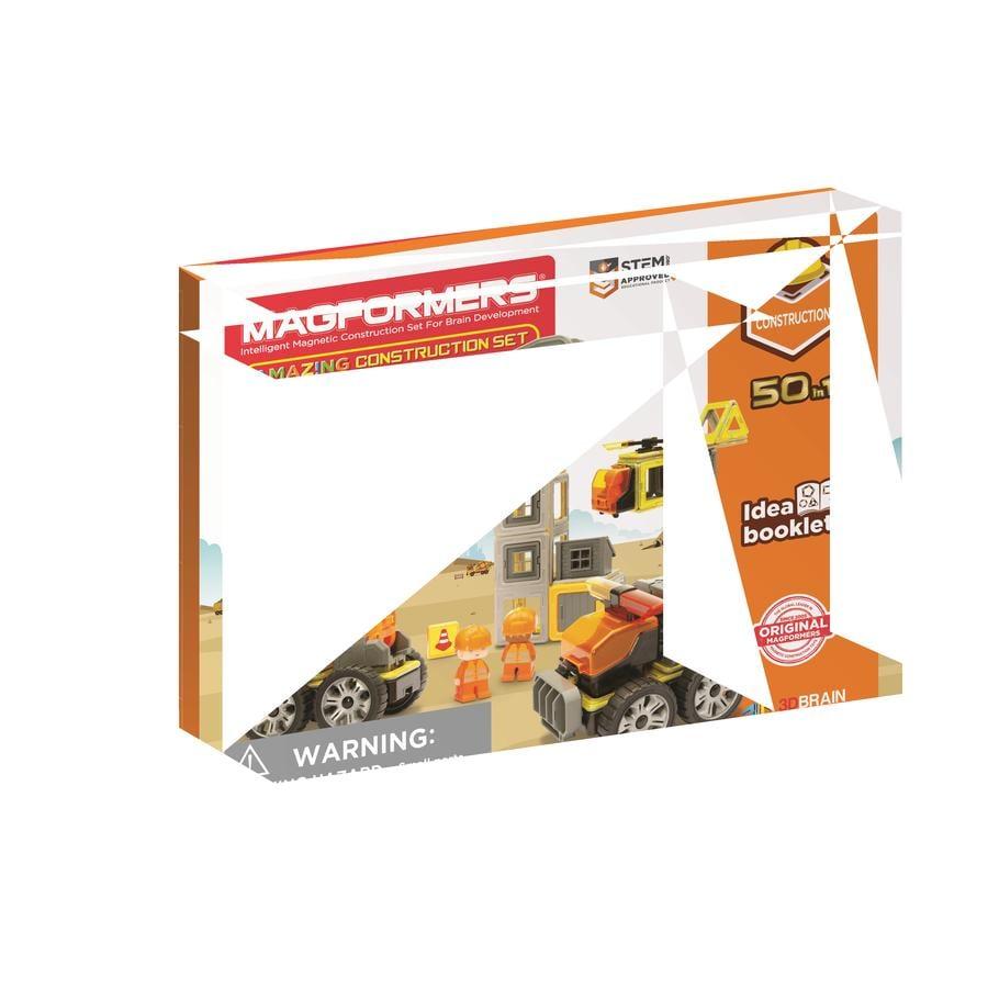 MAGFORMERS® Jeu magnétique Amazing Construction 50 pièces