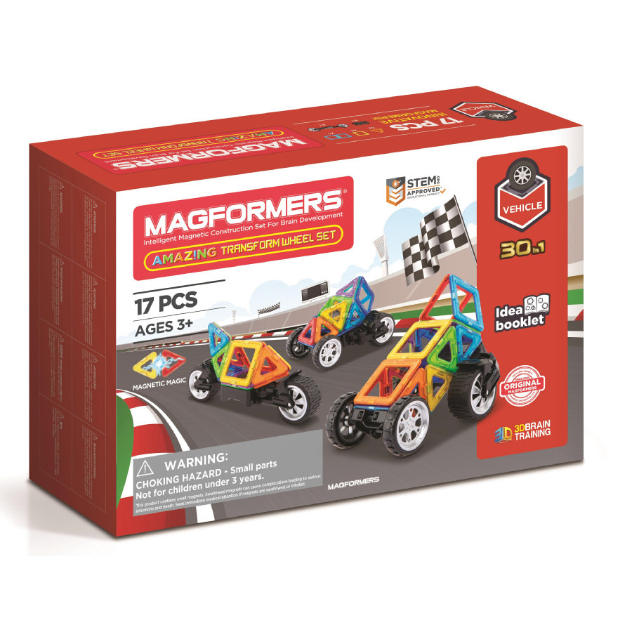 MAGFORMERS® Jeu magnétique Amazing Transform Wheel 17 pièces