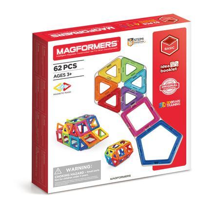 MAGFORMERS® Jeu magnétique kit de complément 62 pièces