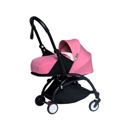 BABYZEN Lastenrattaat YOYO2 0+ musta/vaaleanpunainen
